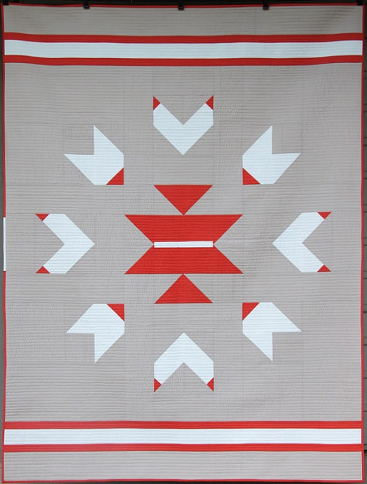 Gather 'Round - a modern quilt pattern by Bonjour Quilts