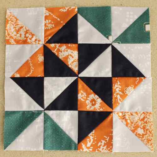 Milly - Block #62 in the Farmer's WIfe 1930s Sew Along, blogged by Kirsty at Bonjour Quilts