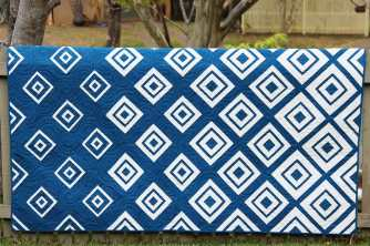 Bonjour Quilts pattern Diamonds in the Deep