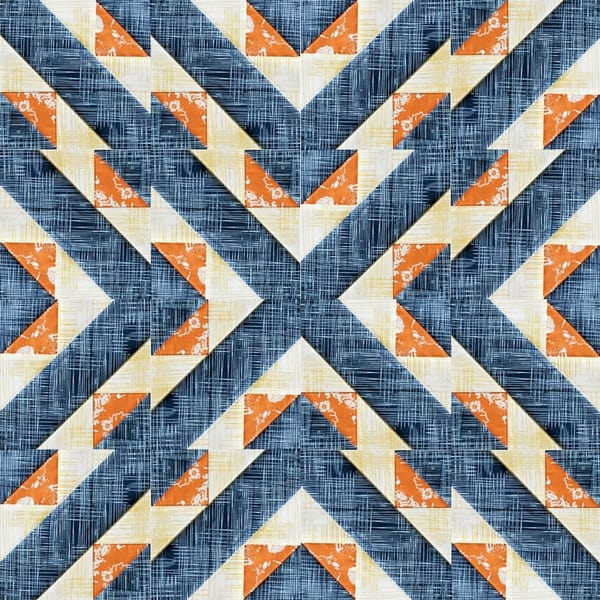 Marcella Farmer's Wife block in a 16 square arrangement, by Kirsty and Bonjour Quilts