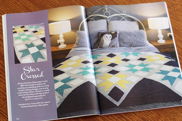Kirsty at Bonjour Quilts' project in Quilters Companion called Star Crossed
