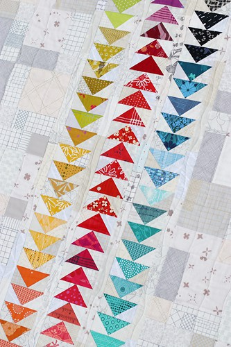 Flock of Seagulls Quilt made from Angie Wilson's Fussy Cutters Club book by Kirsty at Bonjour Quilts