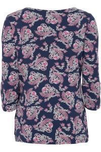Side Tie Top Paisley Print