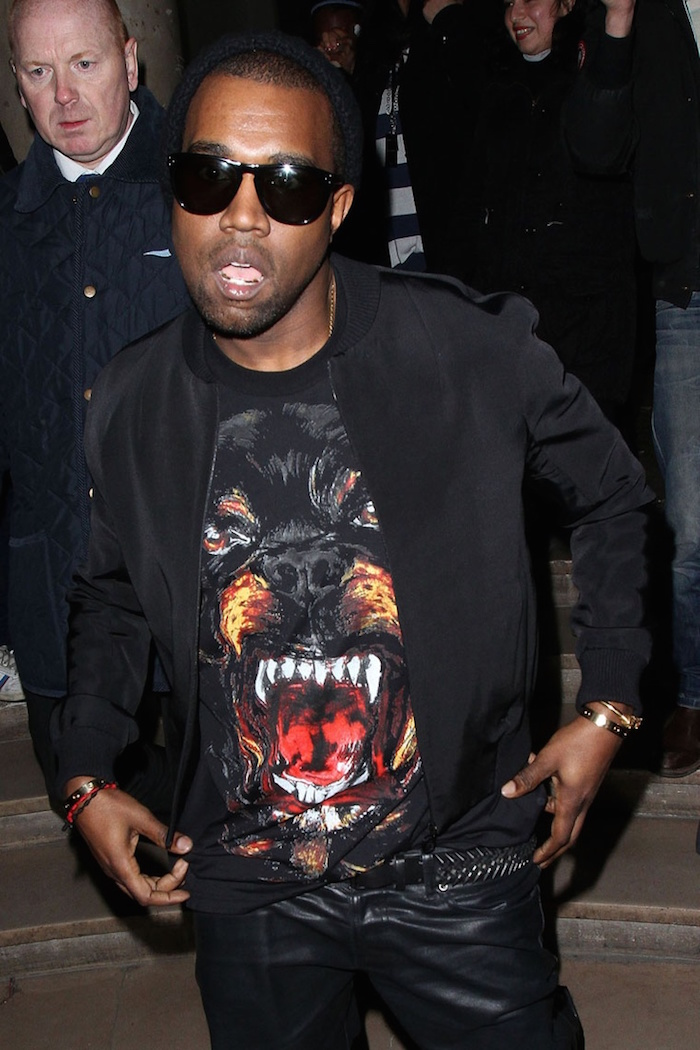 kanye west givenchy tee shirt doberman