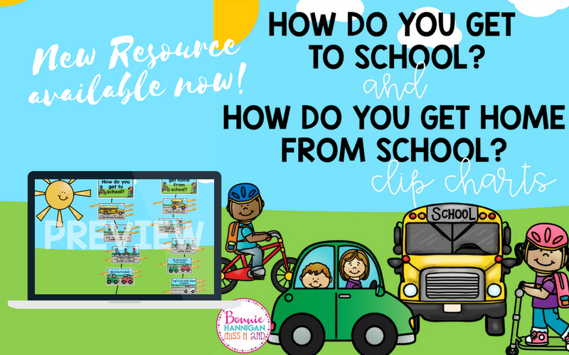 How Do You Get To and From School Clip Chart Resource