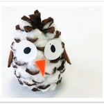 Baby Pinecone Owl Ornament