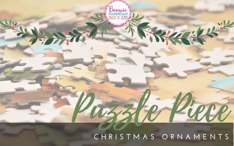 Puzzle Piece Christmas Ornaments