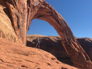 Moab Arch outside of Arches National Park