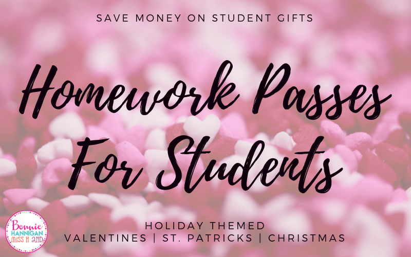 Homework Passes For Student Gifts
