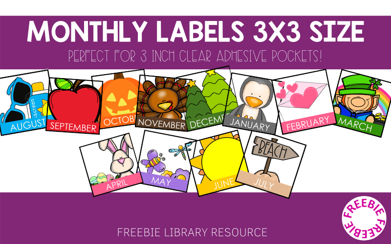 Monthly Bin Labels 3x3 Freebie