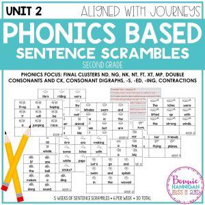 Unit 2 Grade 2 Sentence Scrambles
