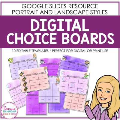 Digital Choice Board Templates