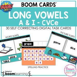 Boom Cards Long Vowels a and i