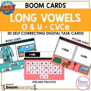 Boom Cards™ Long Vowels o and u