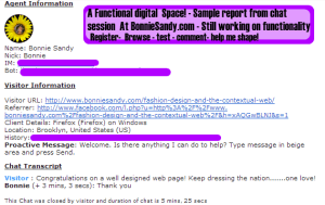Screen shot of transcript from  the chat feature to the left, and bottom left of our page!
