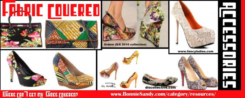 Learn to cover shoes (and Bags) in African Fabric, Floral or lace fabric