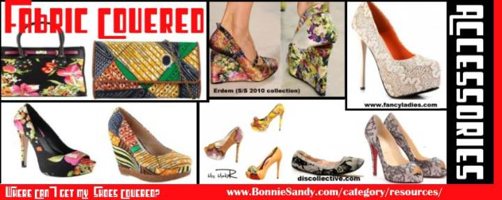 inspiration fabric covered accessories - lace- african fabrics-prints- learn how to