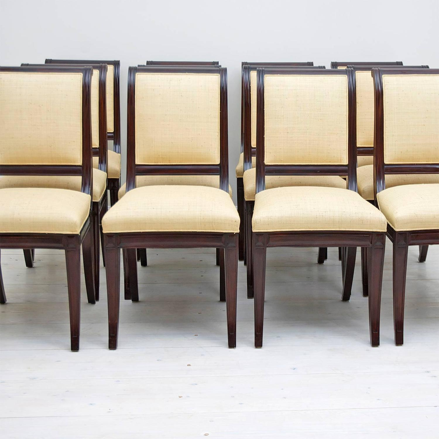 british colonial chair disposable plastic covers for parties set of 12 style dining chairs upholstered in madagascar