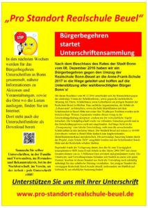 """Bürgerinitiative """"Pro Standort Realschule Beuel"""""""
