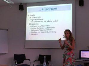 Dr. Christine Lötters beim letzten B2B-Workshop in 2016