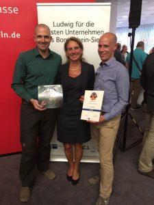 Arne Meindl, Dr. Christine Lötters und Jan Rütten