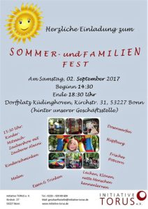 Sommer- und Familienfest Initiative TORUS e. V. am 2. September 2017 in Küdinghoven