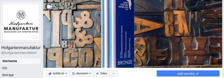Bonner Hofgartenmanufaktur goes Facebook