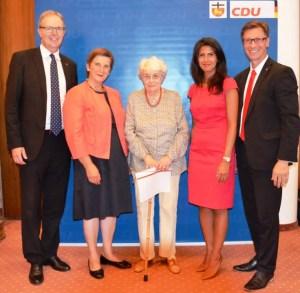 Jubilarehrung der Bonner CDU Marlene Lenz für 60 Jahre Mitgliedschaft ausgezeichnet