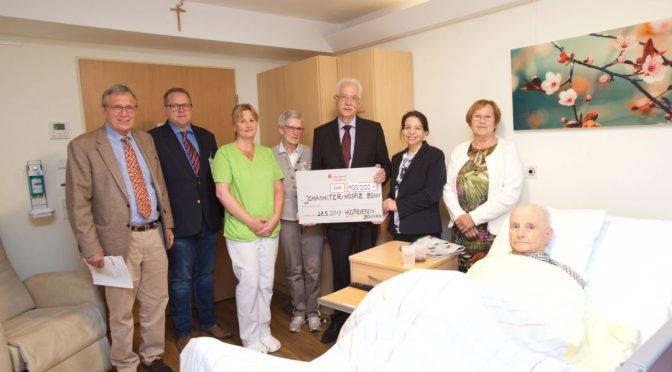 Spende für Johanniter-Hospiz in Bonn: Vier weitere Zimmer werden renoviert