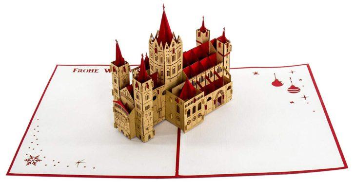 3D Weihnachtskarte vom Bonner Münster