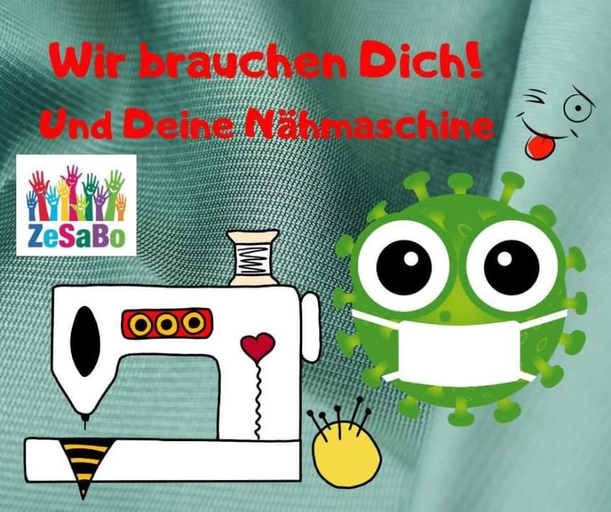 """Aktion: """"Behelfsmasken für Bonn"""" des Zentrallager Sachspenden Bonn (ZeSaBo)"""