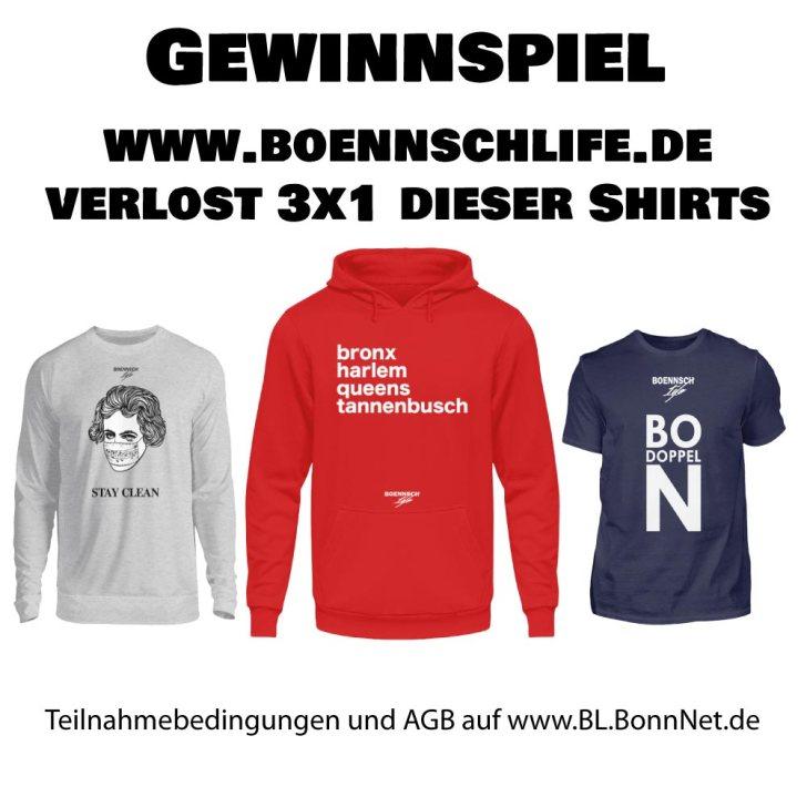 3 x 1 Shirt von www.boennschlife.de zu gewinnen!