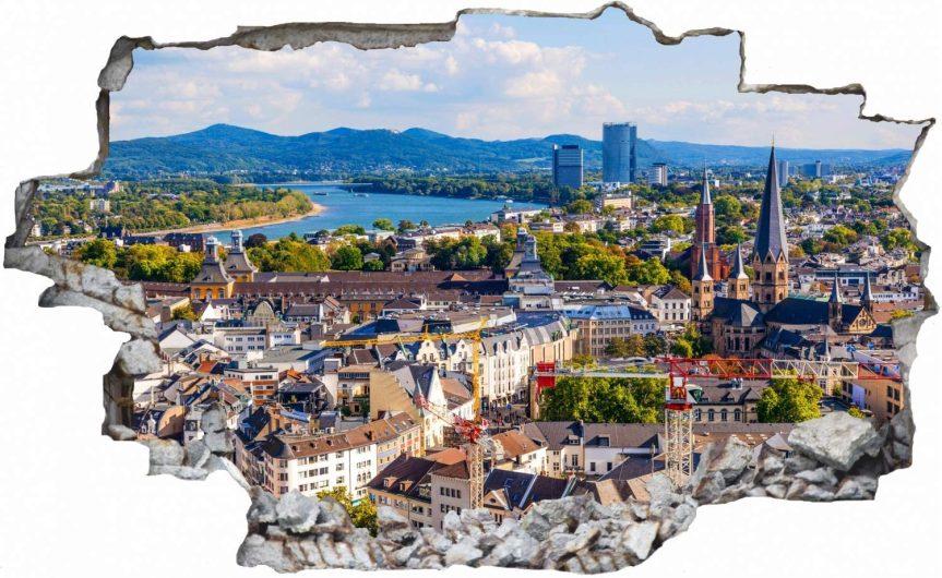 Bonn Deutschland Skyline Stadt Wandtattoo Wandsticker Wandaufkleber