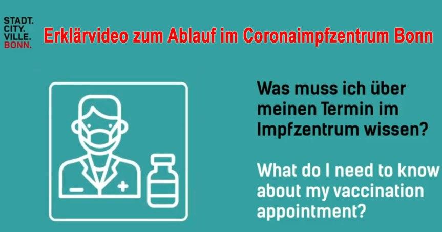 Coronavirus: Erklärvideo zum Ablauf der Impfungen im Bonner Impfzentrum im World Conference Center