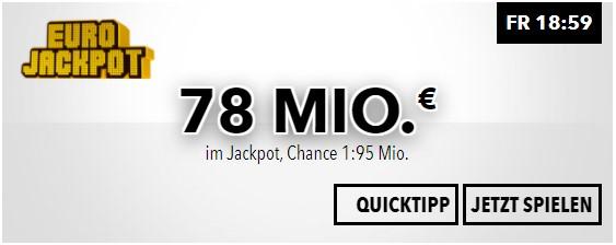 WESTLOTTO: Diese Woche bei EuroJackpot 78 Millionen Euro zu gewinnen | Mittwoch 13 Millionen Euro bei 6aus49