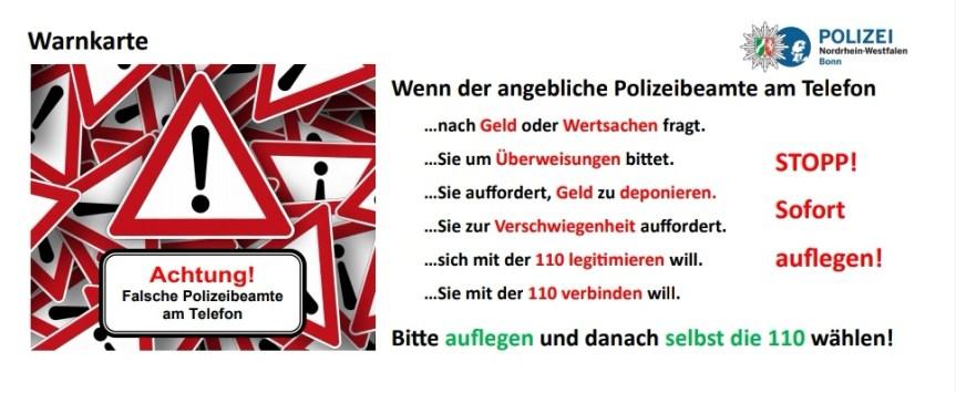Kampf gegen Telefonbetrüger – Polizei Bonn und Kreissparkasse Köln kooperieren
