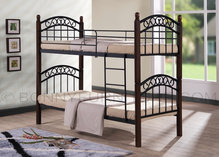 NV888DD Double Deck Steel Bed with Wooden Post  Bonny