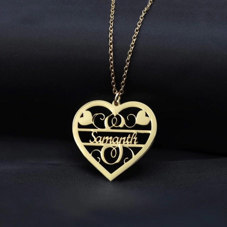 Decorative Heart Necklace