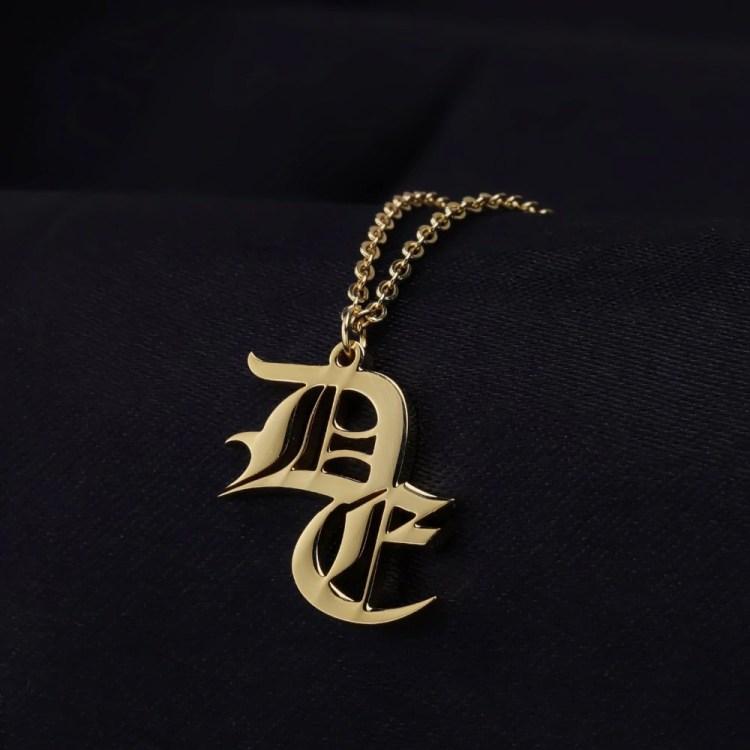 Double Letters Necklace