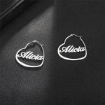 Personalized Heart Earrings