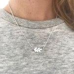 laurel leaf minimalist clavicle chain