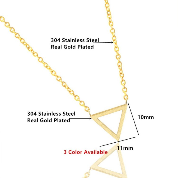 premium quality minimalist gold color necklace from bonny planet