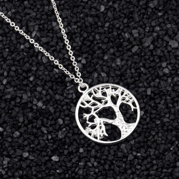 vintage retro tree of life family tree bonny planet necklace for women best gift ideas