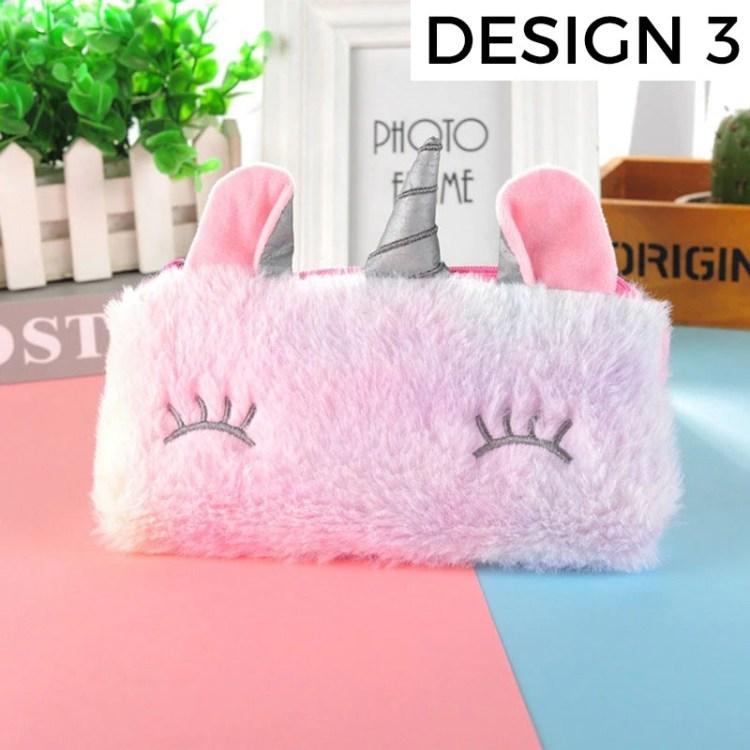 modern plush style pencil case for kids