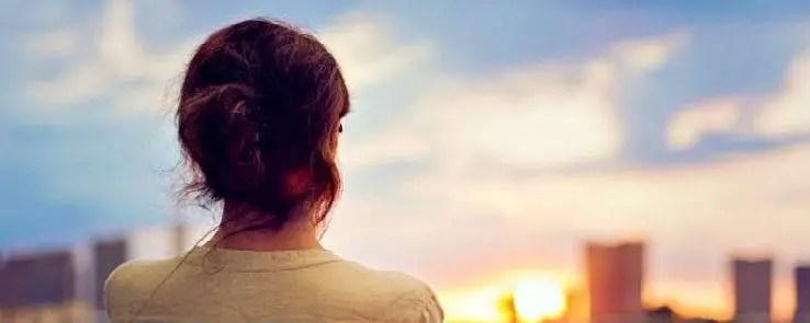 Woman Watching Skyline