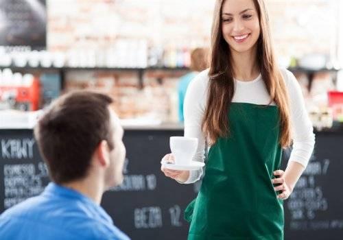 waitress in green dress