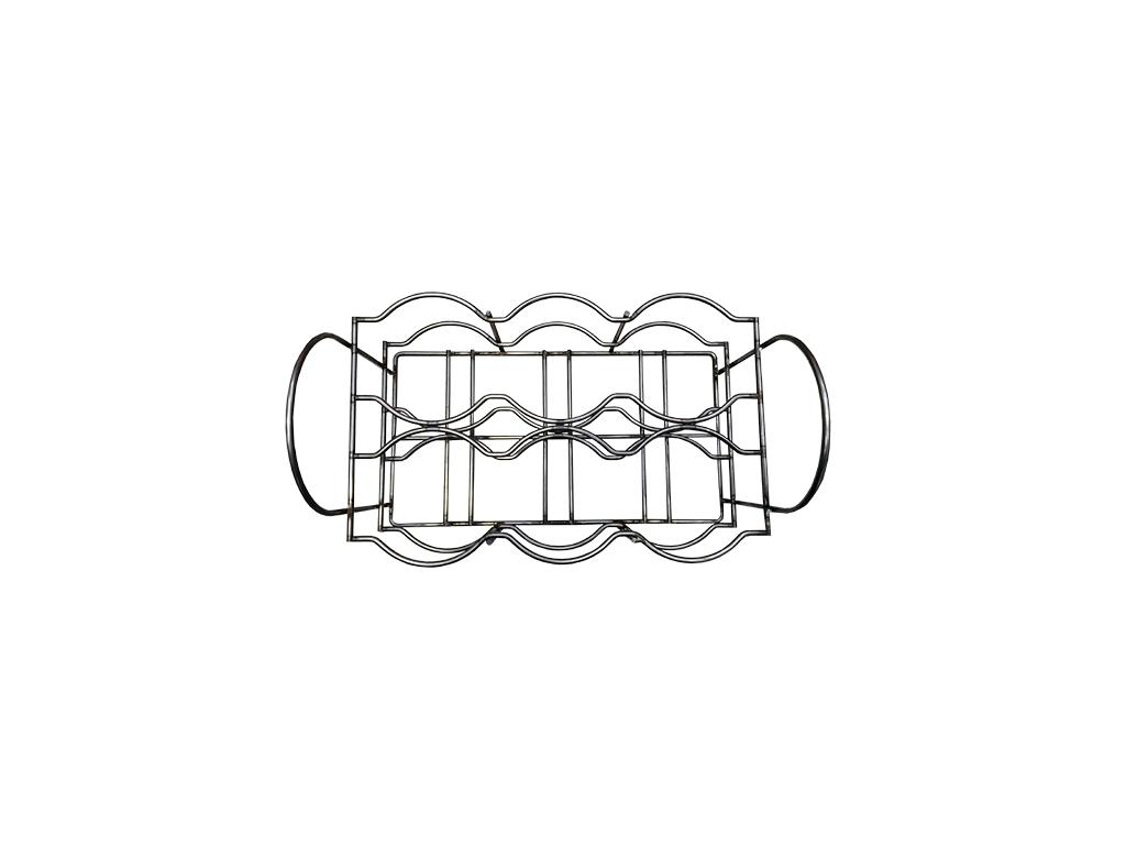 Portabottiglie in filo metallico