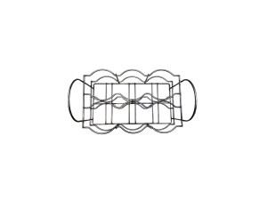 Cesto portabottiglie in filo metallico