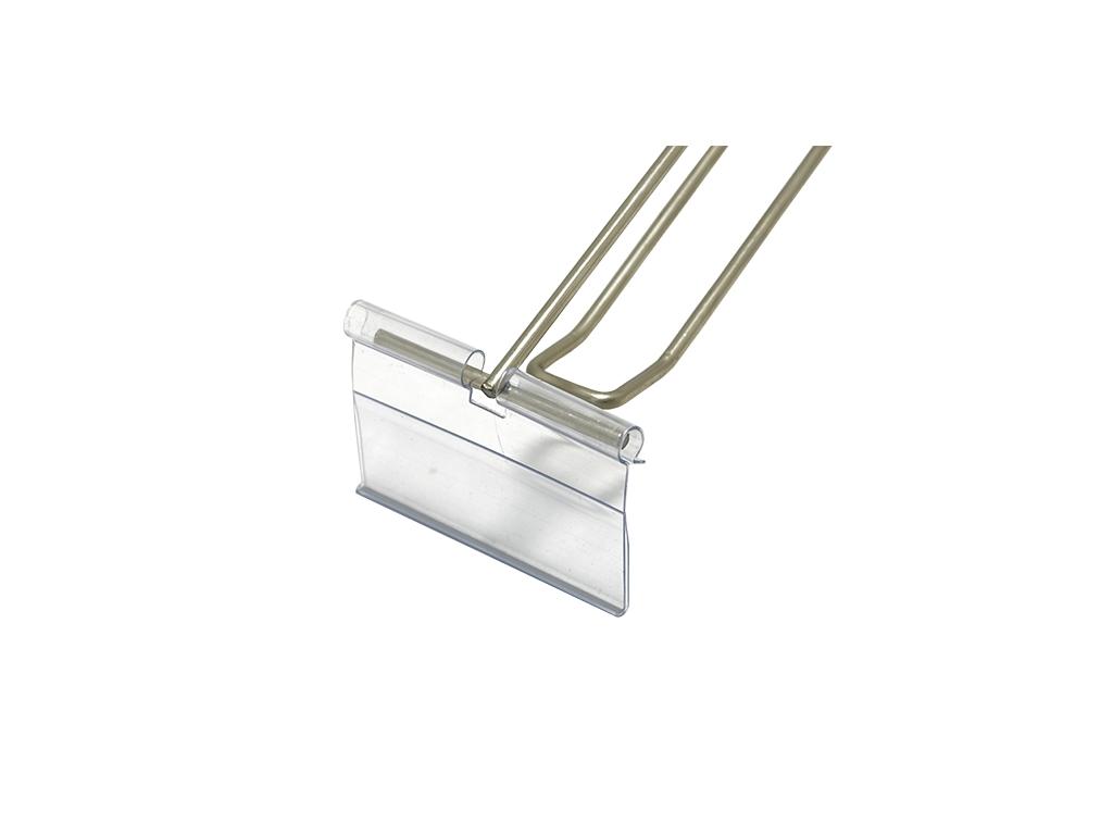Gancio portaprezzi in filo metallico