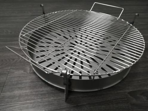 braciere e griglia per barbecue in filo metallico